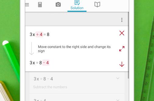 دانلود برنامه Photomath – Camera Calculator 4.1.3