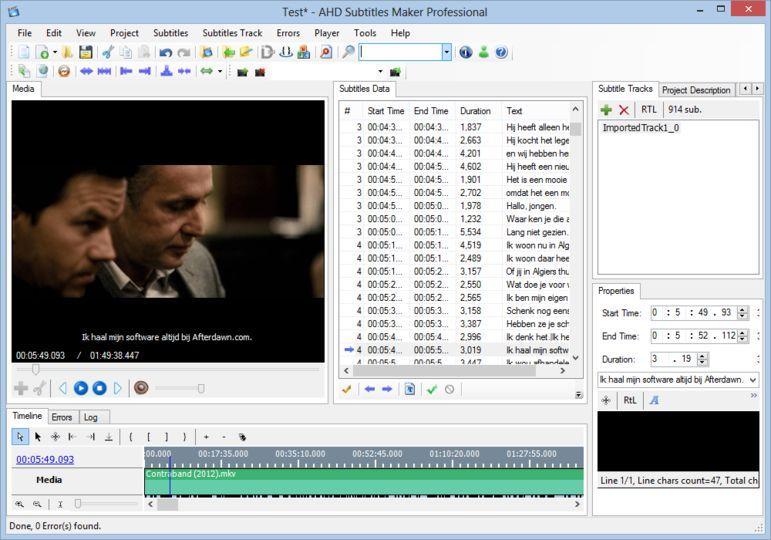 دانلود نرم افزار AHD Subtitles Maker v5.19.219 - برنامه ساخت و ویرایش زیرنویس