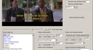 دانلود نرم افزار DVDSubEdit 1.52 ویرایش زیرنویس فیلم های DVD