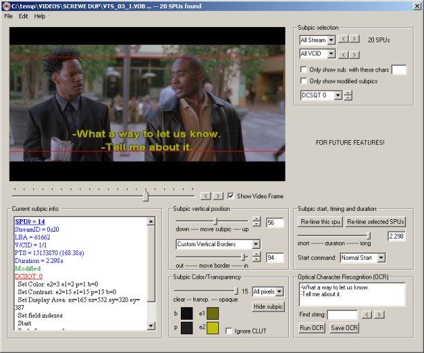 Photo of دانلود نرم افزار DVDSubEdit 1.52 ویرایش زیرنویس فیلم های DVD
