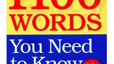 Photo of دانلود ۱۱۰۰ لغت کاربردی برای آزمون های انگلیسی